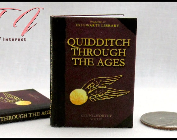 1:6 Scale QUIDDITCH Through The Ages Miniature Illustrated Readable Book Boy Wizard Potter Golden Snidget World Cup Broom Quaffle