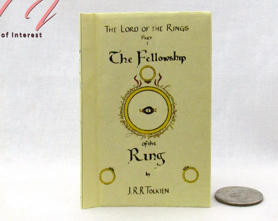FELLOWSHIP Of THE RING Illustrated Readable Book 1:3 Scale 18 Inch Scale Book American Girl Doll Lord of the Rings 18 inch Ag Doll 1/3 Scale