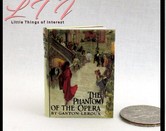 """PHANTOM Of THE OPERA in 1:6 Scale Readable Color Illustrated Book Gaston Paris, Monster High Blythe Pullip Barbie Phicen Scale 12"""" Dolls"""
