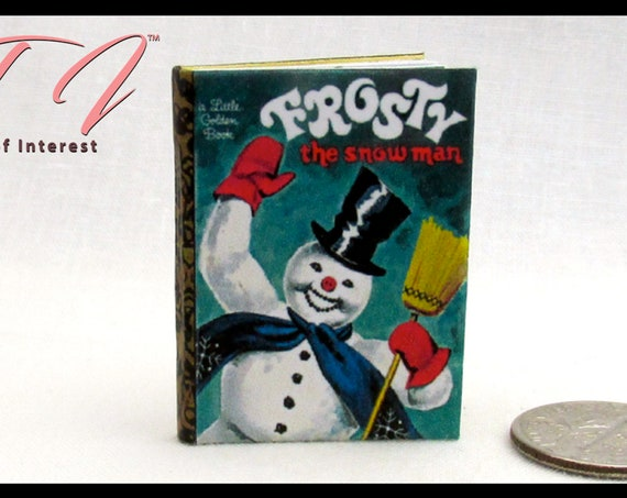 FROSTY THE SNOWMAN 1:6 Scale Illustrated Readable Miniature Book Santa Christmas Holiday Santa Barbie Monster High Fashion Playscale Dolls
