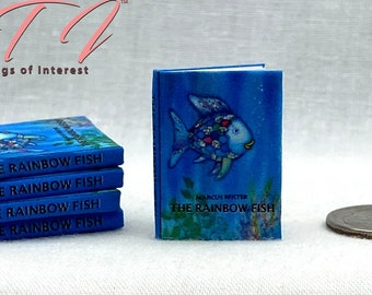 THE RAINBOW FISH Miniature 1:12 Scale Illustrated Readable Children's Book