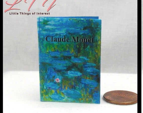 1:6 Scale CLAUDE MONET Illustrated Readable Book Art Artist Monster High Blythe Pullip Barbie Phicen Bjd Scale