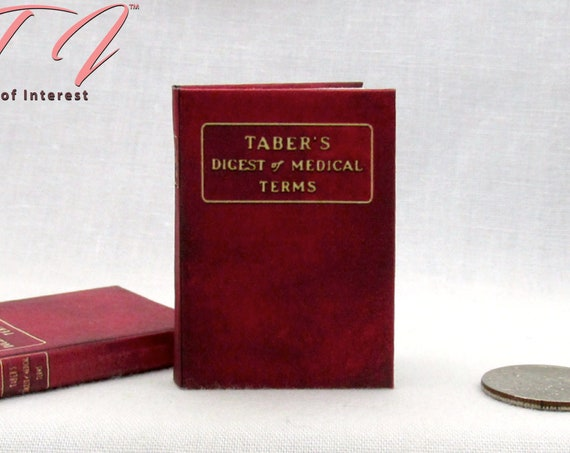 MEDICAL DICTIONARY 1:6 Scale Book Readable Miniature Medical Book Doctor Office Health Medical Nurse Biology Human Body #Barbiediorama