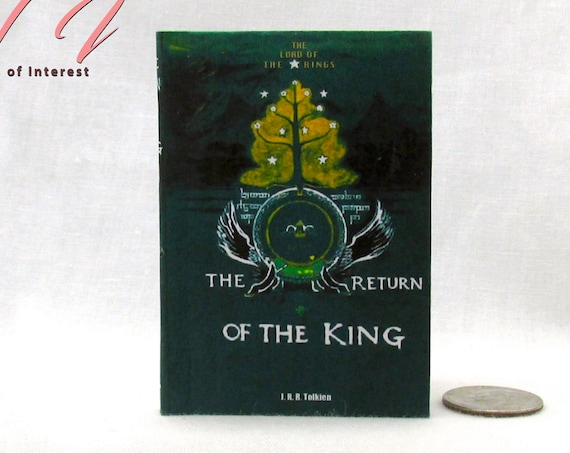 RETURN Of THE KING Illustrated Readable Book 1:3 Scale 18 Inch Scale Book American Girl Doll Lord of the Rings 18 inch Ag Doll Scale