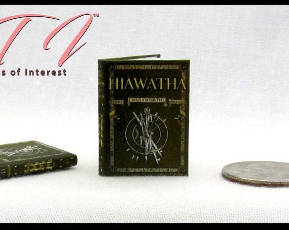 THE SONG Of HIAWATHA Miniature Book 1:12 Scale Readable Illustrated Book Epic Poem Henry Wadsworth Longfellow Native Americans Ojibwe Dakota