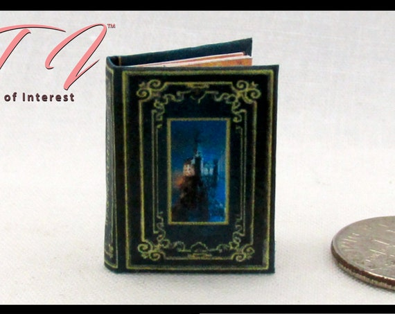 "ENCHANTED CASTLES Miniature Dollhouse 1:12 Scale Book 1"" Scale COLOR Illustrated Book Witch Wizard Fortune Teller Gypsy Potter Magic"