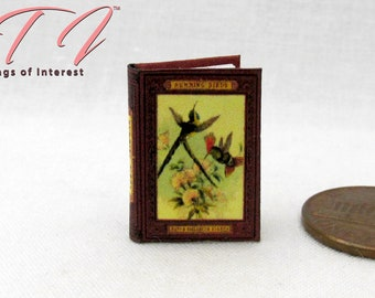 BUTTERFLIES AND MOTHS Illustrated Readable Dollhouse Miniature Book 1:12 Scale
