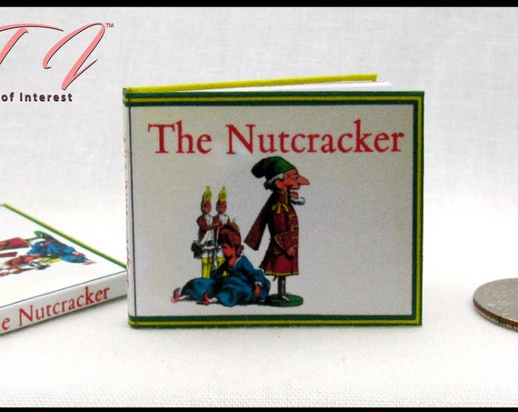 THE NUTCRACKER 1:6 Scale Readable Illustrated Book Christmas Story Barbie Accessory Bjd Scale