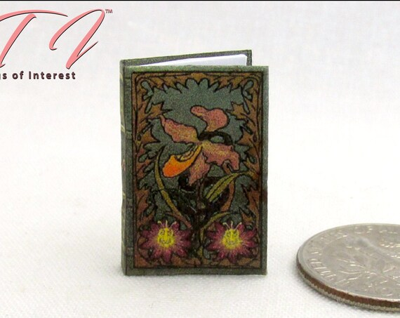LES FLEURS Du MAL Miniature Book Dollhouse 1:12 Scale Book Poems Charles Baudelaire French The Flower of Evil