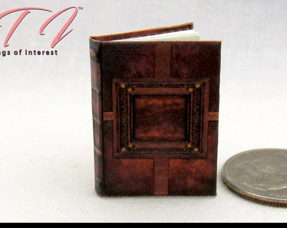 WITCHES Book Of Spells GRIMOIRE Miniature Book 1:12 Scale Book SUPERNATURAL Illustrated Readable Book Witch Popular Boy Wizard Potter Magic