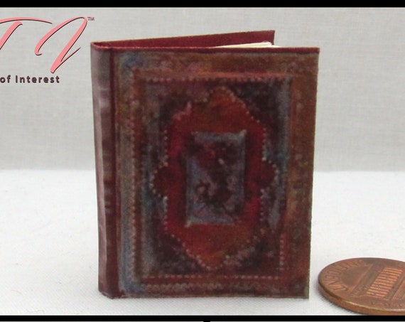 BOOK Of HOURS 1:6 Scale Book READABLE Color Illustrated Book bjd Momoko Barbie Scale Barbie Monster High Fashion Dolls