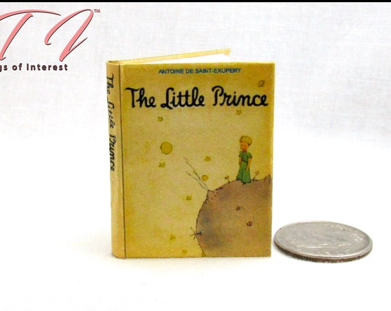 THE LITTLE PRINCE Book 1:6 Scale Readable Illustrated Miniature Book Play Scale Barbie Blythe Scale Book