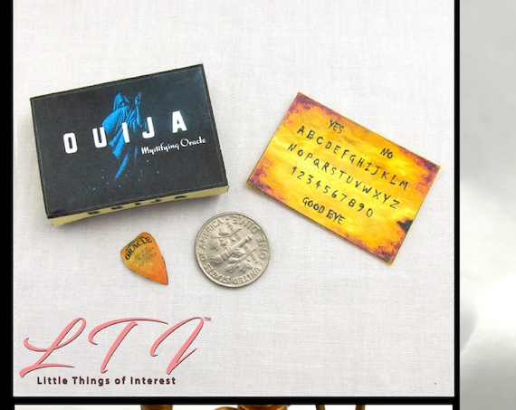 Dollhouse Doll OUIJA BOARD Mystifying Oracle - Box & Planchette Printable Tutorial Miniature 1:12th Scale Download Gypsy Tarot Magic Seance