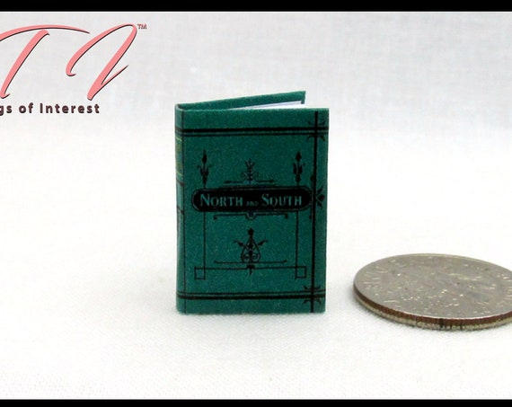 "NORTH AND SOUTH Miniature Dollhouse 1:12 Scale Book 1"" Scale Illustrated Readable Book Civil War United States Slavery History"