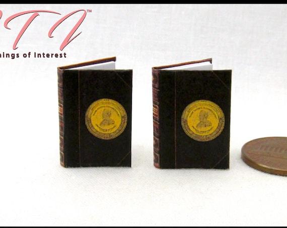 Ulysses S. Grant Book Set (2) Dollhouse Miniature 1:12 Scale Books President Civil War Ohio History North South #miniaturebooks #miniature
