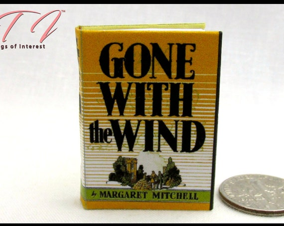 GONE WITH The WIND 1:6 Scale Book Readable Miniature Book Scarlet O'Hara Mitchell As God is my witness, I'll never be hungry Blythe Barbie