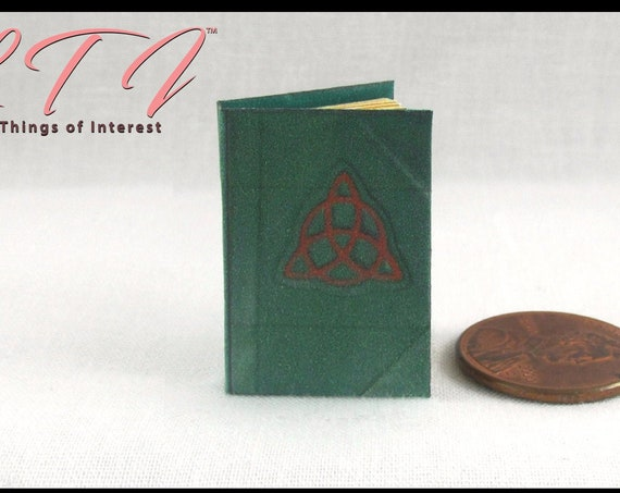 CHARMED Book of Shadows Miniature Book Dollhouse 1:12 scale Magic Spell Book Illustrated Readable Book Wizard Witch Fortune Teller Gypsy