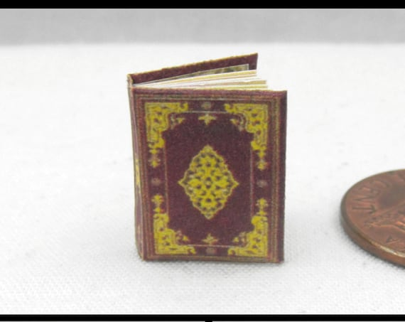 BOOK of HOURS The Hours of Jeanne d'Evreux Miniature Book Dollhouse 1:12 Scale Book Vibrant Illuminated Prayer Book France, Paris c. 1500