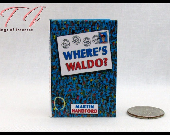 """1:6 Scale WHERE'S WALDO Miniature Book Readable Illustrated Play Scale Barbie Monster High Blythe 12"""" Doll Fashion Dolls Phicen"""