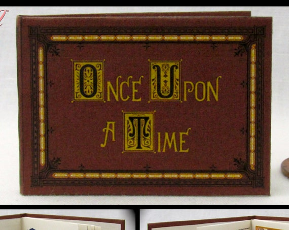 1:6 Scale ONCE UPON A TIME Book Of Fairy Tales Miniature Book Play Scale 6th Scale Doll Book Barbie Monster High Blythe Dolls