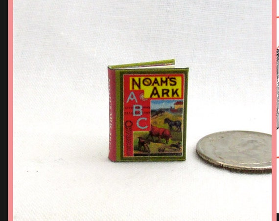 NOAH'S Ark ABC'S Dollhouse Miniature Book 1:12 Printable Download PDF Tutorial Instant Project