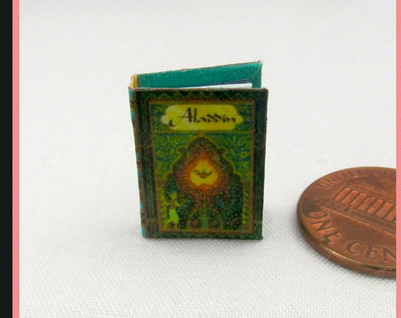 ALADDIN or The Wonderful Lamp Dollhouse Miniature Book 1:12 Printable Download PDF Tutorial Instant Project