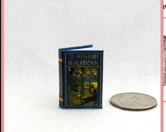 SWISS FAMILY Robinson Dollhouse Miniature Book 1:12 Printable Download PDF Tutorial Instant Project Lost Island Stranded Shipwreck