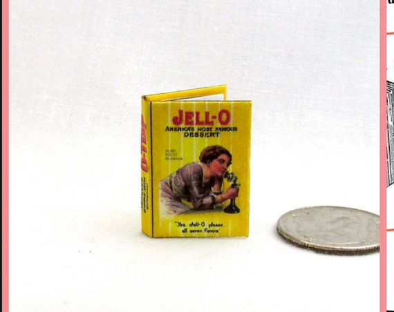 JELLO COOKBOOK Dollhouse Miniature Book 1:12 Printable Download PDF Tutorial Instant Project Kitchen Cook