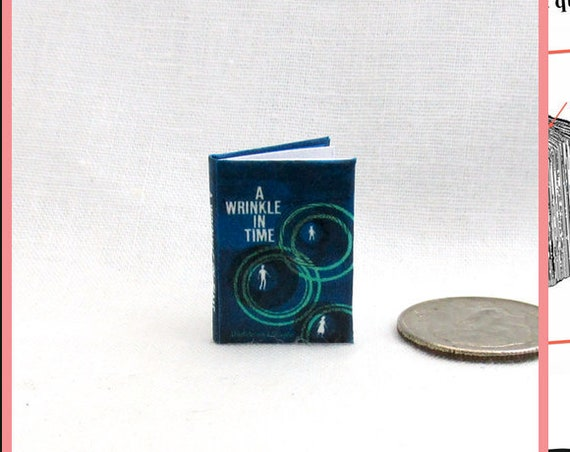 A WRINKLE In TIME Dollhouse Miniature Book 1:12 Printable Download PDF Tutorial Instant Project