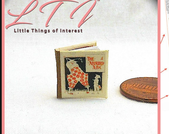 ABSURD ABC's Dollhouse Miniature Book 1:12 Printable Download PDF Tutorial Instant Project Walter Crane Clown Circus