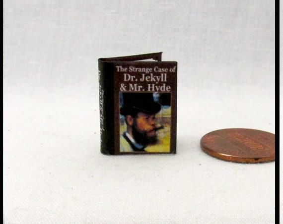 Dr. JEKYLL and Mr. HYDE  Dollhouse Miniature Book 1:12 Printable Download PDF Tutorial Instant Project Monster Horror Novel