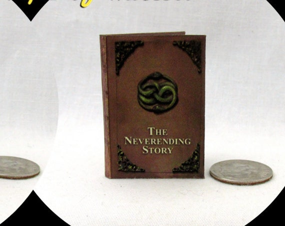 THE NEVERENDING STORY 1:6 Scale Readable Illustrated Dollhouse Miniature Book Barbie Play Scale