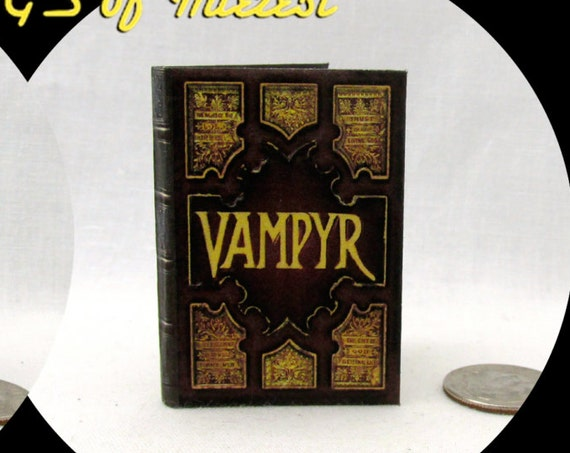 The VAMPYR SLAYERS HANDBOOK 1:6 Scale Readable Book Barbie Vampire Handbook Phicen 1/6