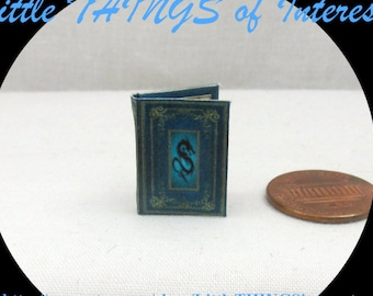 BOOK OF DRAGONS Miniature Book Dollhouse 1:12 scale Illustrated Readable Book Wizard Witch Fortune Teller Gypsy Potter Magic