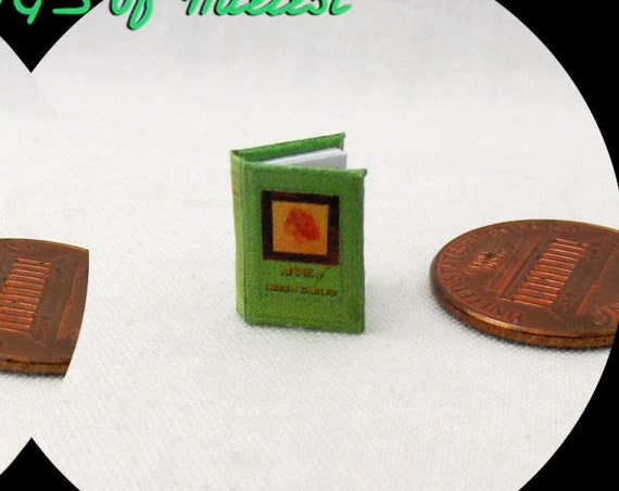 "1:24 Scale ANNE Of Green Gables Miniature Book Dollhouse Scale Book 1/2"" Scale"