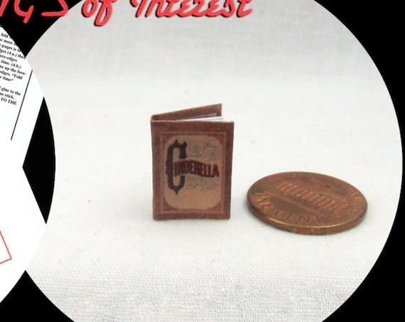 Kit CINDERELLA Book Kit PDF for 1:12 Miniature Dollhouse Scale Miniature DIY Accessory Prince Charming Disney