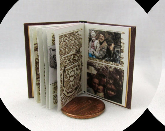 JOHN WINCHESTER'S JOURNAL Replica Miniature Book Readable Illustrated Book 1:6 Scale Play Scale Phicen 1/6