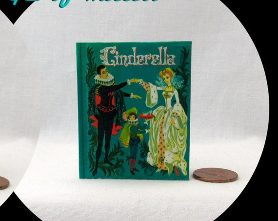 CINDERELLA Illustrated Book in 1:3 Scale Readable Book 18 Inch American Girl Doll Book 18 inch AG Doll 1/3 Scale