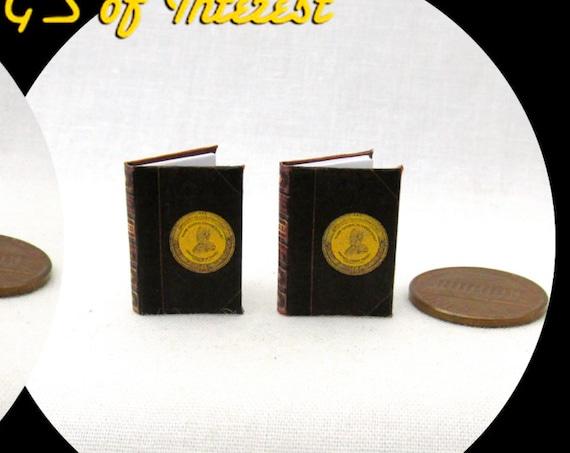PERSONAL MEMOIRS Of U.S. GRANT Book Set (2) Dollhouse Miniature 1:12 Scale Books President Ohio History
