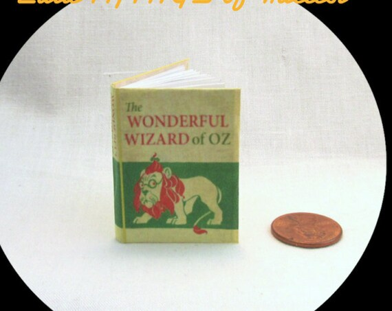 The WIZARD of OZ Book in 1:6 Scale Readable Illustrated Book