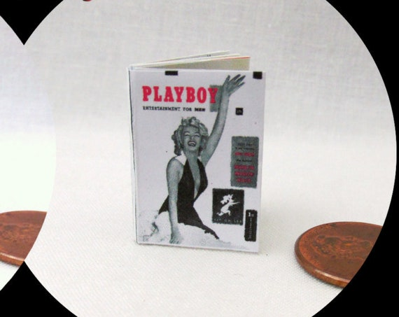 PLAYBOY Magazine Dollhouse 1:12 Scale Miniature MARILYN MONROE Center Fold #1 Norma Jeane Mortenson Blonde Bombshell Actress Model Sex