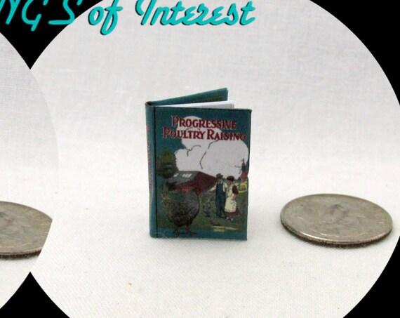Chicken PROGRESSIVE POULTRY RAISING Illustrated Book Miniature Dollhouse 1:12 Scale