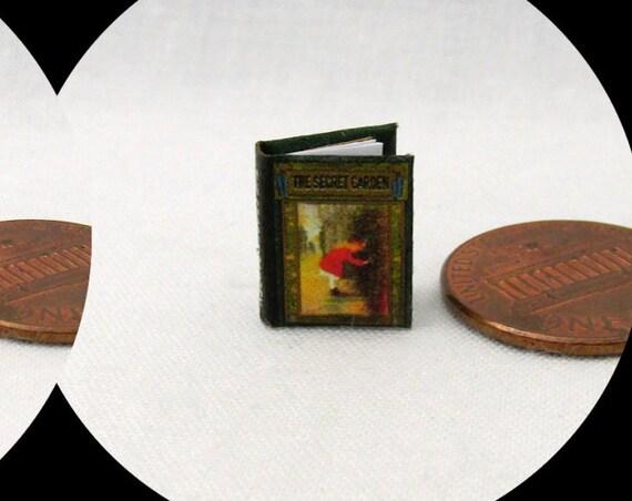 "1:24 Scale SECRET GARDEN Miniature Book Dollhouse Book Half Inch 1/2"" Scale Children Play"