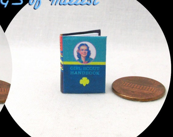 GIRL SCOUT HANDBOOK  Illustrated Miniature Book Dollhouse 1:12 Scale Readable Book Girlscounts