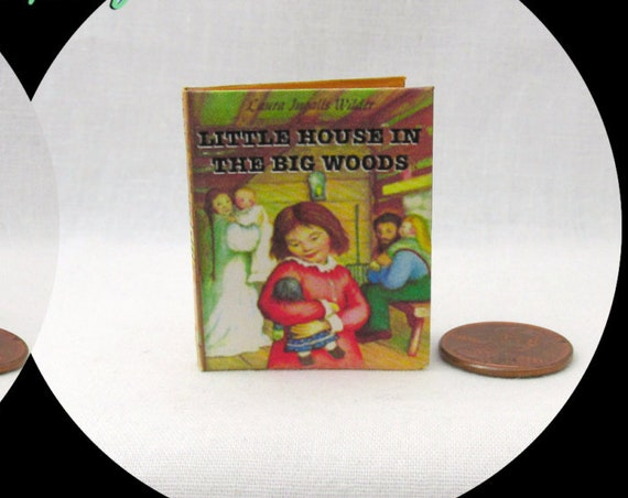LITTLE HOUSE In The Big WOODS 1:6 Scale Readable Illustrated Book - Blythe Momoko Pullip Barbie Scale Little House Laura Ingalls Wilder