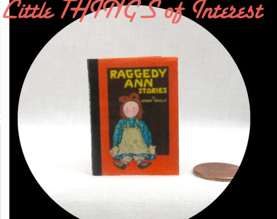 RAGGEDY ANN Book in 1:6 Scale Illustrated Readable Book - Blythe - Momoko - Pullip - Barbie Scale Book