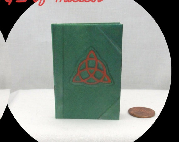 BOOK of SHADOWS Illustrated Book 1:3 Scale Readable Spell Book American Girl 18 inch Doll Potter Magic Wizard Witch