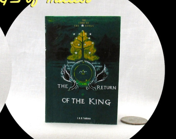 RETURN Of THE KING Illustrated Readable Book 1:3 Scale 18 Inch Scale Book American Girl Doll Lord of the Rings 18 inch Ag Doll 1/3 Scale