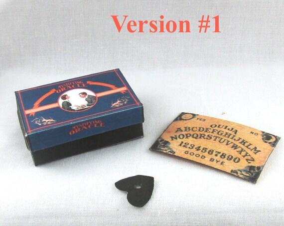 Dollhouse Doll OUIJA BOARD - Box and Planchette Printable Tutorial Miniature 1:12th Scale Version 1 DIY Download Gypsy Tarot Magic