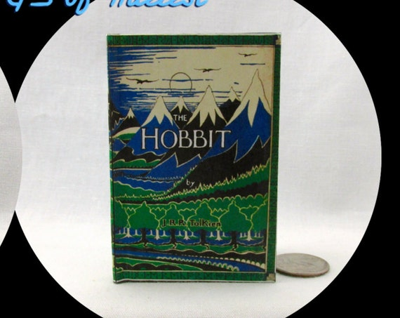 THE HOBBIT Illustrated Readable Book 1:3 Scale 18 Inch Scale Book American Girl Doll Lord of the Rings 18 inch AG Doll 1/3 Scale